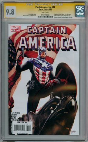 Captain America #34 CGC 9.8 Signature Series Signed Joe Quesada Marvel comic book